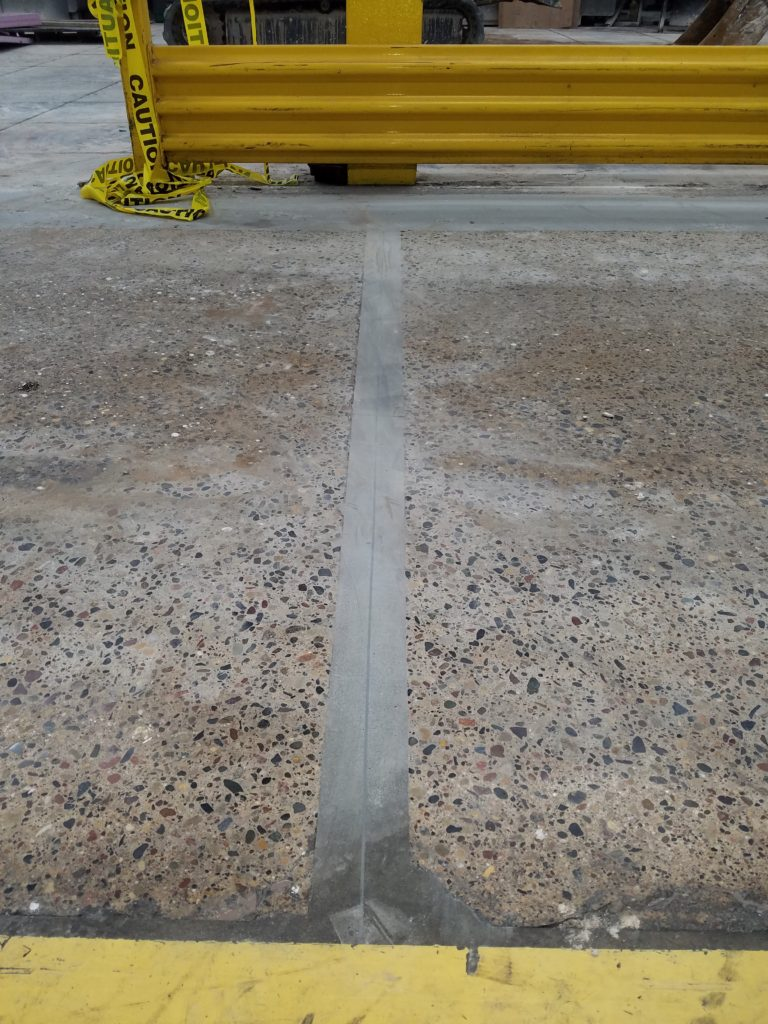 Picture of the industrial floor repairs 5 years later.